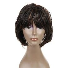 Feibin Twist Box Braid Wig African American Synthetic Senegalese Crochet Braiding Afro Short Wigs For Black Women