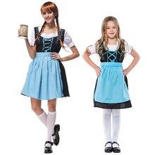 Umorden Bavarian Oktoberfest Costumes Women German Beer Wench Girl Girls Waiter Cosplay Fancy Dresses for Family Matching