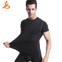 YD 2017 Wicking Compression Tight Fitness Basketball Jersey Gym Training Running Short Sleeve Yoga Green T
