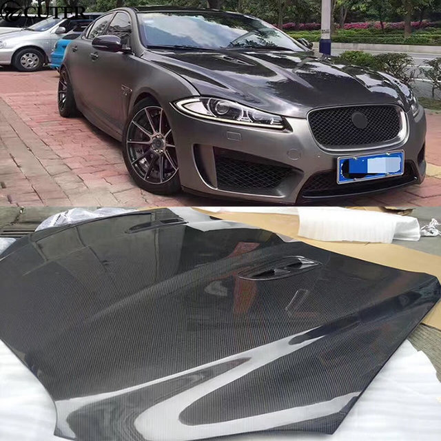 Aliexpress buy xf carbon fiber fiber engine hoods auto car xf carbon fiber fiber engine hoods auto car bonnet for jaguar xf 11 15 altavistaventures Choice Image