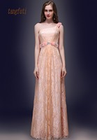 One Shoulder Lace Evening Dress Sleeveless Crystals A Line Floor Length Party Dresses