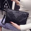 Nuevas mujeres bolsas de mensajero bolsa feminina monederos y bolsos de diseño remache bolsas feminina señoras embrague bolsa de hombro de la vendimia