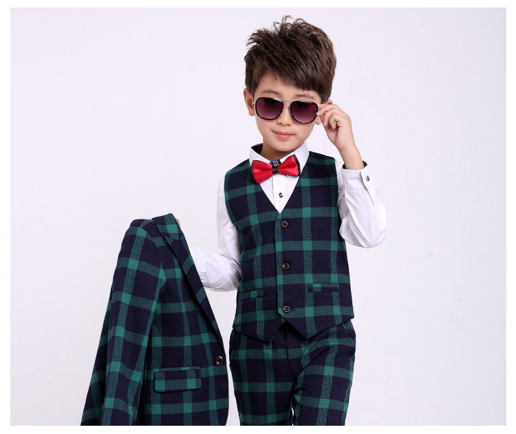 Flower Boys Formal Suits for Weddings School uniform for boys Blazer Vest Pants Tuxedo Kids Gentleman Party Clothing Sets B045 boys formal suits set weddings birthday child kids fashion party tuxedos boys plaid formal suits blazer vest pants 3pcs h027