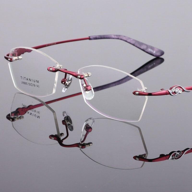 Frauen Randlose Marke Vintage 2018 Myopie Brille Optischen Cat Rahmen Eye Weiblichen Bclear Titan Spektakel Reinem Brillen 0qfTTF
