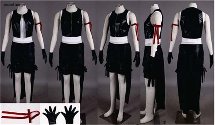 Anime Final Fantasy VII 7 Tifa Lockhart Cosplay Costume Halloween Clothing Custom made Any Size NEW