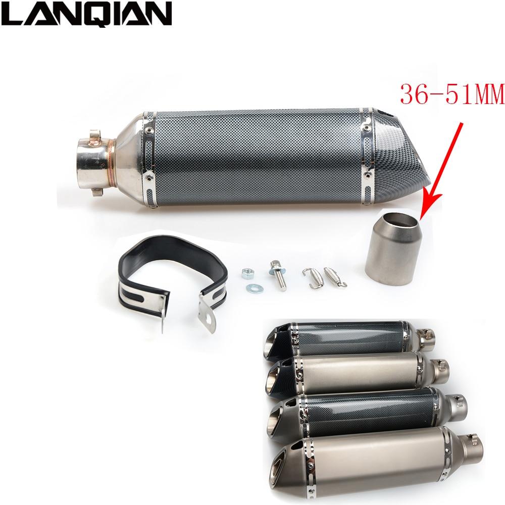 38- 51MM Carbon fiber Motorcycle Escape Modified Muffle Exhaust Pipe for HONDA GROM CBR250R CBR300R CB300F/FA CBR500R CB500F