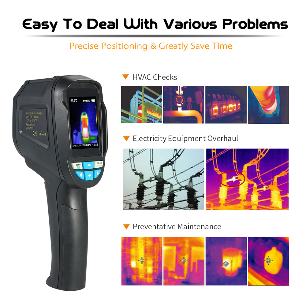 HT-04 Termometro Digital Pyrometer Thermal Camera Portable Infrared Thermometer IR Thermal Imager Infrared Imaging Device camera professional ir thermal imager infrared imaging portable infrared thermometer handheld thermal imaging infrared thermome