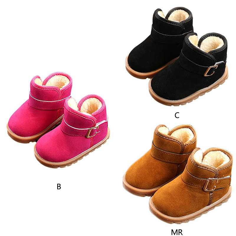 Kids Boots Baby Toddler Shoes Child Winter Warm Snow Boots Shoes Plush Thicker Sole Boys Girls Snow Boots Shoes Big size 21-30