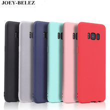 Matte Cases For Samsung Galaxy A3 A5 A7 J7 J5 J3 2016 2017 J2 J5 J7 prime S6 S7 edge S8 plus Note 8 C5 C9 Pro soft silicone case(China)