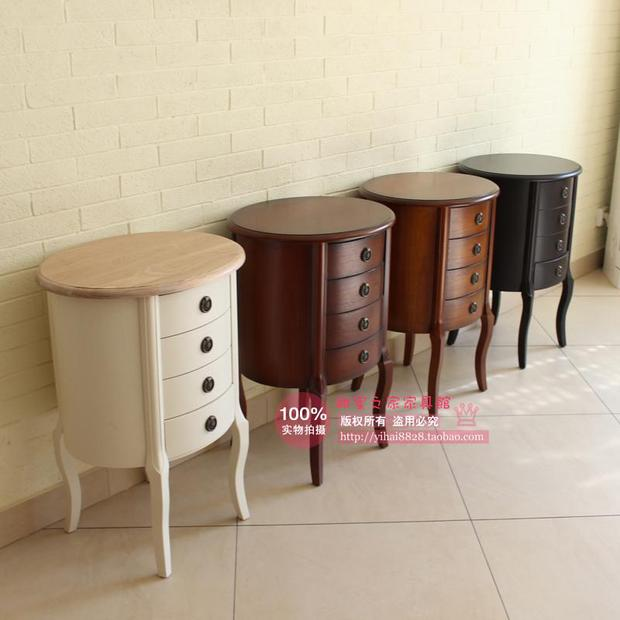 American Rural Countryside All Wood Surfaces Bedside Tables Roundtable  Color Corner Cabinet Drawer Corner A Few Phone In Figurines U0026 Miniatures  From Home ...