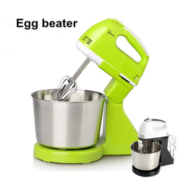 Electric egg beater home handheld desktop food frother noodle mixer 7 speed Double Whisk Eggs Mixer protable cooking tools