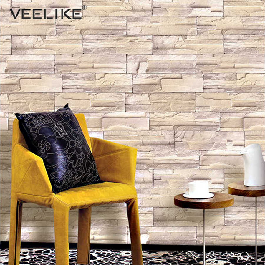 DIY Removable Self Adhesive Brick Stone Wallpaper Rolls For Kitchen Bedroom Wall Decor Decals PVC Vinyl Waterproof Contact Paper