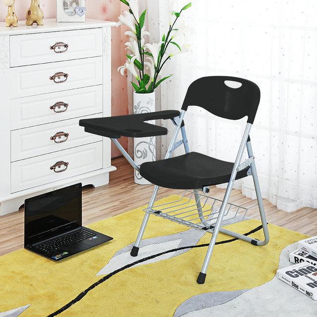 4 pçs/lote simples Dobrável Cadeira Do Escritório Reunião Cadeira Com Placa de Escrita de Treinamento Durável Cadeira de Aprendizagem do Aluno Em Sala de Aula