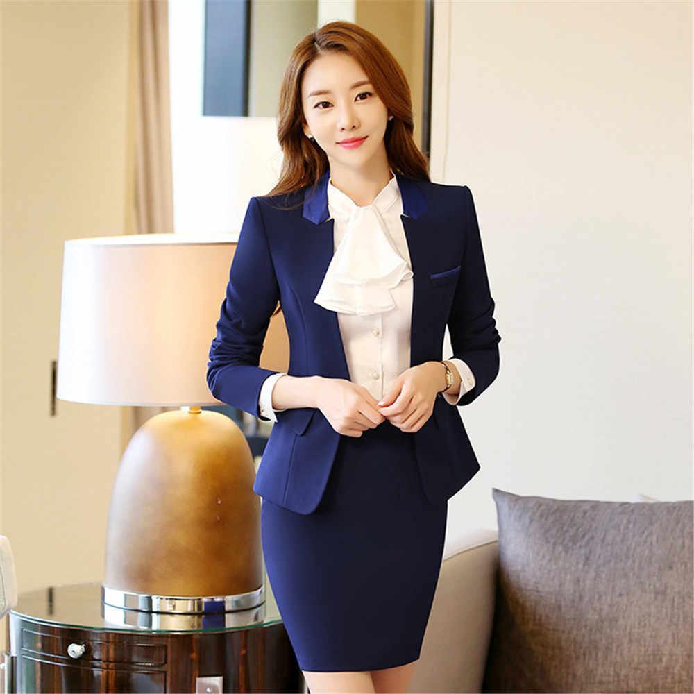 3f7bcb8ebf7ed ... 2019 New Formal Women Business Suits L size Blazer+Pant autumn Winter  women set Fashion ...