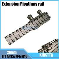 KINSTTA AR15 M4 M16 Scope Mount Base Flattop Riser Extended Long Pour 20mm Picatinny Weaver Rail
