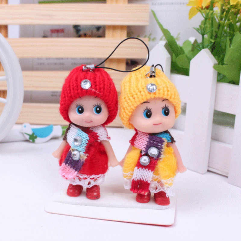 1 MÁY TÍNH Bán 8cm Trẻ Em Món Đồ Chơi Tương Tác Bé Búp Bê Móc Khóa Búp Bê Mini Móc Khóa cho Bé Trai và Bé bé gái