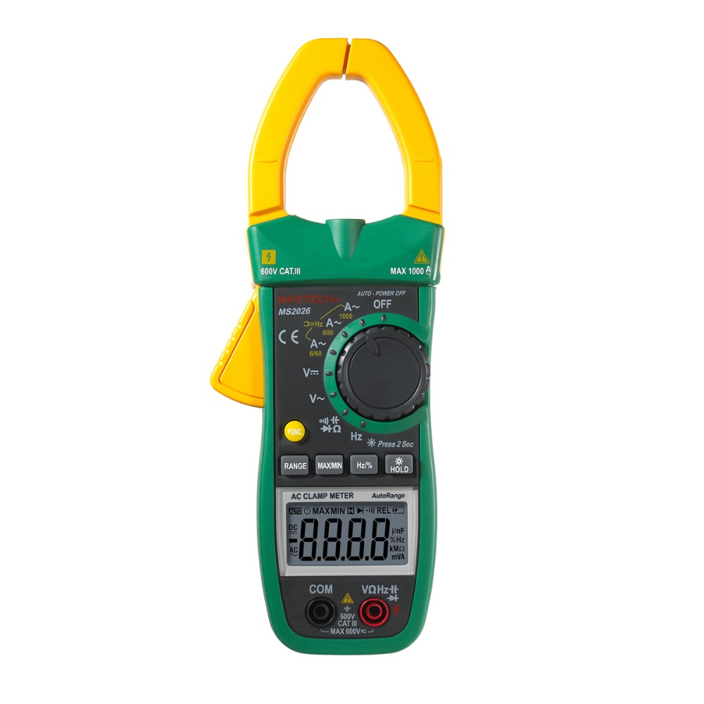 ФОТО MASTECH MS2026 6000 Counts Digital Clamp Meter 1000A AC Current Tester