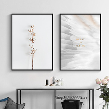 Flower Poster Nordic Decoration Home Feather Print Art Canvas Painting Wall Pictures For Living Room Canvas Prints Unframed 900d nordic feather canvas art print painting poster flower wall pictures for home decoration wall decor nor37