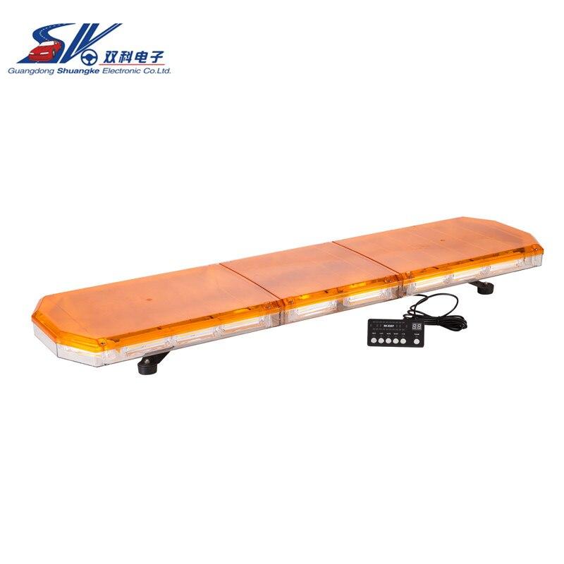 SK 48'' 12V 24V 220w LED COB LED Emergency Light Bar Strobe Amber 360 Degree with traffic advisor funcation