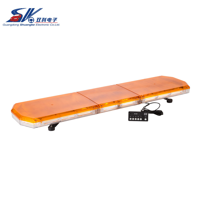 Sk/48 12 В-24 В 220 Вт COB аварийного Strobe Light Bar Amber 360 градусов с трафиком Advisor Funcation ...