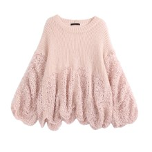 Fashion Women Hollow Out Loose Big Size Mohair Sweaters Female Crochet  Patchwork Batwing Sleeve Thin Sweater ec04de060