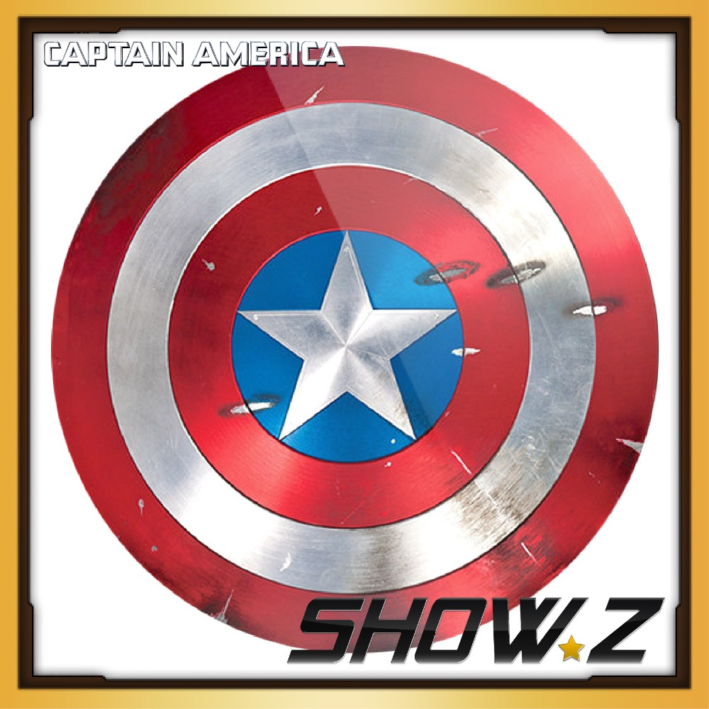 [Metal Made]CATTOYS 1:1 Captain America Shield Battle Damaged Version Prop&Replica metal colour the avengers civil war captain america shield 1 1 1 1 cosplay steve rogers metal model shield adult replica wu525