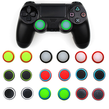 лучшая цена 4pcs Silicone Analog Thumb Stick Grips Cover  For PS3/Switch Controller Thumbstick Caps For PS4 Pro Slim For Xbox 360 One