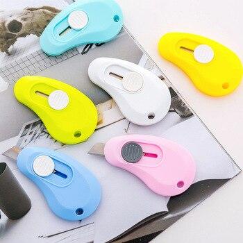 Разноцветная Милая портативная Мини-машинка для резки бумаги, лезвия для бритвы, офисные принадлежности, Escolar Papelaria
