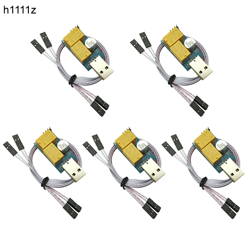 5PCS Double Relay USB Watchdog Card Unattended Automatic Restart Blue Screen Crash Timer Reboot For 24H PC Gaming Server Mining