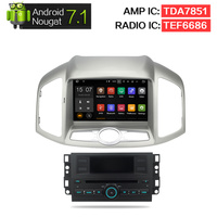 2G RAM Android 7.1 Chevrolet Captiva Için Araba DVD Stereo Epica 2012 2013 2014 2015 Oto Radyo GPS Navigasyon Multimedya ses