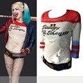 Harajuku Sudaderas Mujer Trajes Harley Quinn Comando Suicida T Camisa Cortocircuitos Juego Adulto Disfraces Cosplay Película Joker 2016 de Arkham