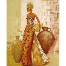 K052 yikee алмазная живопись Африканской женщины 5 d 3d Алмазная