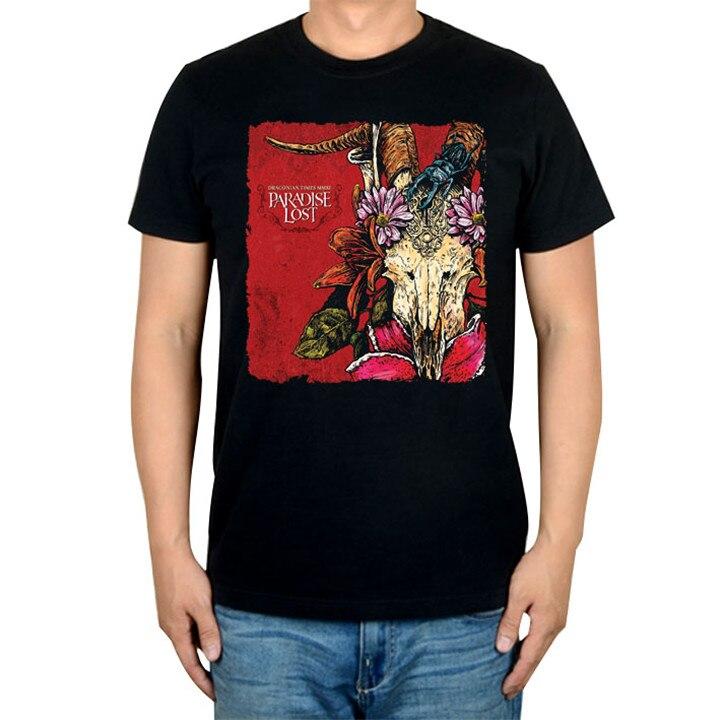 14 видов иллюстрации Райский Lost Rock брендовая футболка панк готический Металл черные рубашки уличная Harajuku искусство картины camiseta - Цвет: 7