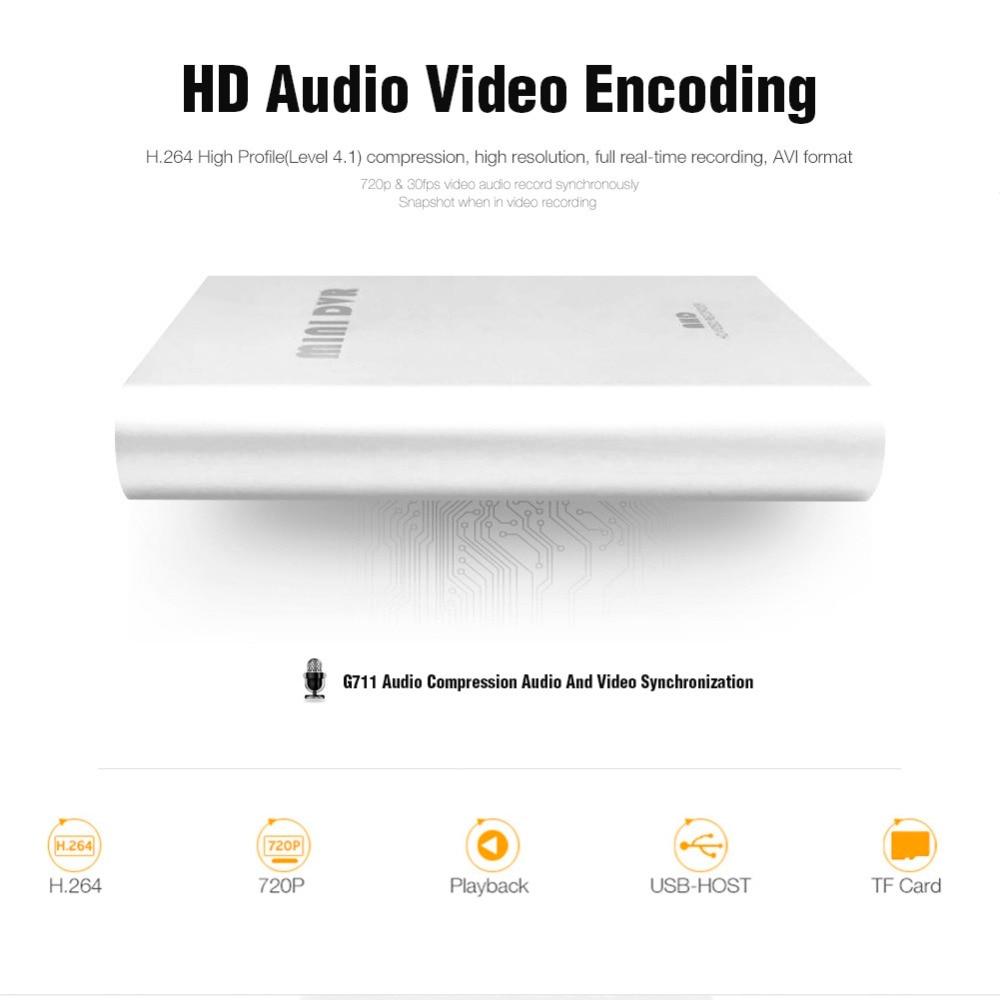Супер Мини AHD DVR рекордер HD 720P поддержка SD карты 256 ГБ в режиме реального времени 1Ch плата CCTV DVR видео сжатие обнаружения движения