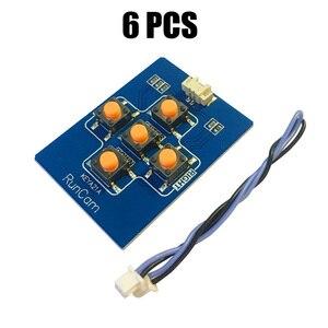 6 pièces RunCam clé conseil avec 1.25mm 2pin FPV Silicone câble Menu Micro Swift Eagle 2 Pro hibou pour Mini caméras caméra Accs