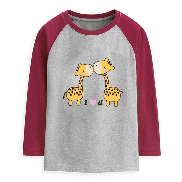 Primavera Otoño Unisex Camiseta de los niños ropa adolescente de Manga Larga ropa de los muchachos Del O-cuello Pullover niños Niñas Top T-shirt ropa de la muchacha
