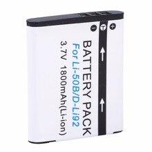 Probty Batería de ion de litio recargable para Li 50B Olympus Mju 1800, SP 800UZ Stylus 1020 u 1010 Ricoh CX3 CX4 D LI92 DLI92, 1010 mAh
