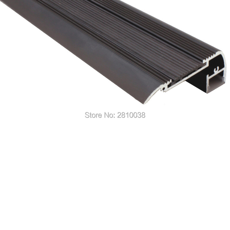 10 X 1M Sets/Lot Stair step led strip aluminium profile Stair nosing aluminum led extrusion for step stair lighting 50 x 2m sets lot office lighting led profile housing 75 mm tall u type led aluminum extrusion for suspension lights