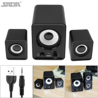 Portable Mini Combination Mega Bass Subwoofer Speaker Column Computer Loudspeaker With 3 5mm Audio USB Power