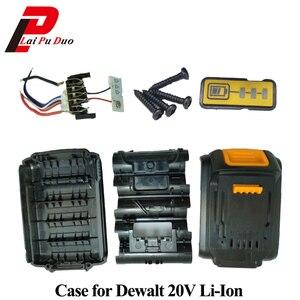 Image 1 - For Dewalt 18V 20V Battery Plastic Case 1.5Ah DCB200 DCB201 DCB203 DCB204 Li ion Battery Cover Parts