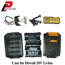 Pour Dewalt 18V 20V batterie boîtier en plastique 1.5Ah DCB200 DCB201 DCB203 DCB204 Li ion pièces de couverture de batterie