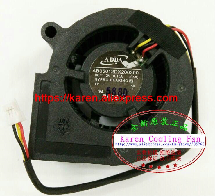 New Original ADDA AB05012DX200300 12V 0.15A projector Blower cooling fan new original bp31 00052a b6025l12d1 three wire projector fan