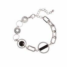 цена на Temperament simplicity circular circle round bead geometry marble tide female fashion joker bracelet  Fashion bracelet