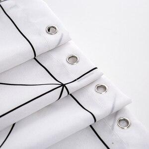 Image 3 - Mode Weiß Grid Print Jalousien Vorhänge Für Bad Vielzahl Größe Polyester Bad Vorhang Wasserdicht Dusche Vorhänge Wohnkultur