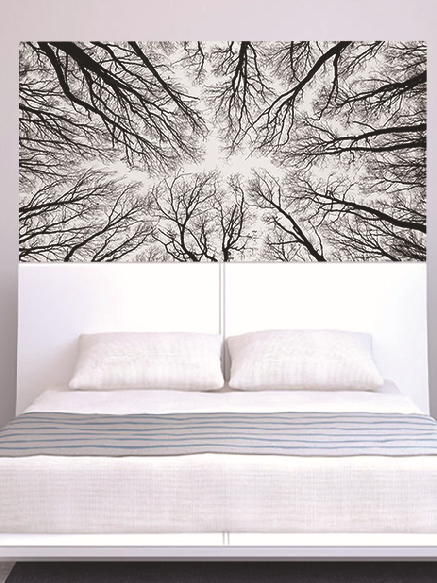 Image 3 - Black Tree Branches 3D Headboard Wall Sticker Room Bedroom Wall Decal Bed Bedside Vinyl Home Decor-in Wall Stickers from Home & Garden
