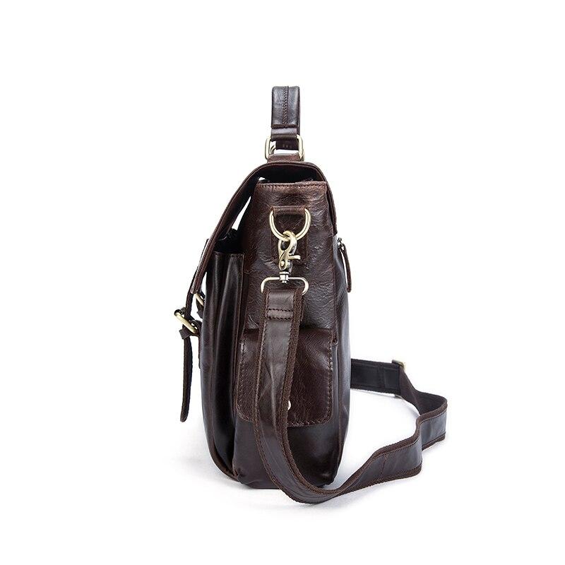 WESTAL Genuine Leather Men Bag Men's Briefcases Male Messenger Shoulder Crossbody Bags Vintage Business Laptop Bag Handbag 8942