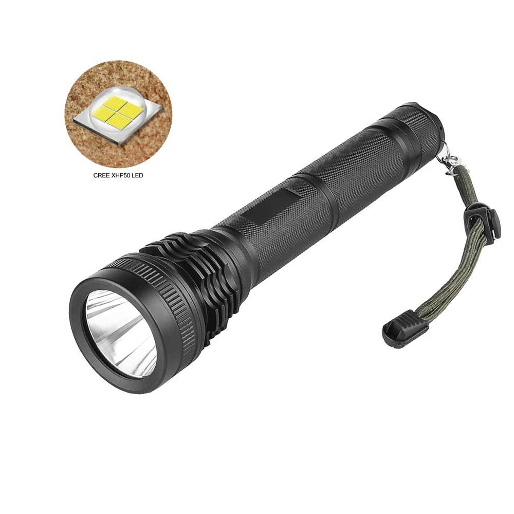 ANYIGE Super lumineux XHP50 lampe de poche LED 5 Modes 18650 lampe torche Portable tactique Flash lumière pour Camping chasse pêche