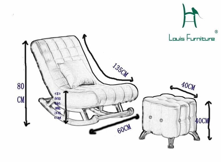 Louis Fashion Living Room Furniture Single Rocking Chair Sofa