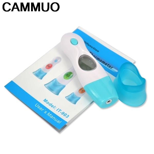 1PC 8 In 1 LCD Digital Infrared Ear Thermometer Forehead for Adult Baby Forehead Multi-Function Thermometer Temperature Control