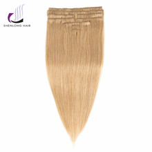 SHENLONG HAIR Malaysian Straight 100% Human Remy Hair Weaving #27   9 Pcs /Set Clip In Hair Extensions  12 Colors Choose